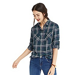 Oasis - Multi blue check shirt