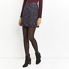 Oasis - Multi merlot tweed poppy skirt