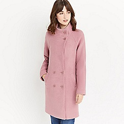 Oasis - Pink 'Florence' double breasted coat