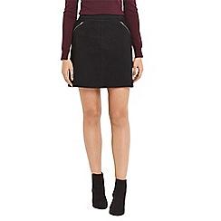 Oasis - Black pinstitch mini skirt