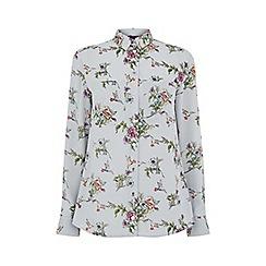 Oasis - Grey small 'Zaina' floral shirt