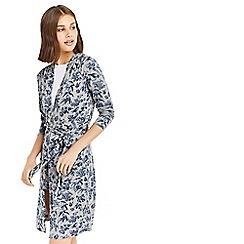 Oasis - Grey floral printed robe