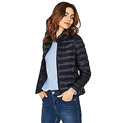 Oasis - Navy packaway padded jacket