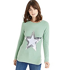 Oasis - Flippy star knitted jumper