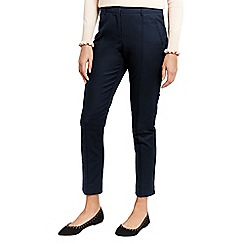 Oasis - Navy compact cotton trousers
