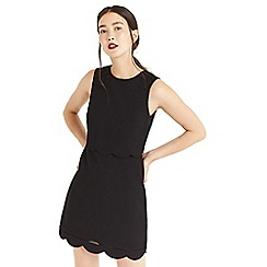 Oasis - Black scallop layer dress