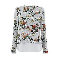 Oasis - Grey 'Rossetti' woven mix cosy top