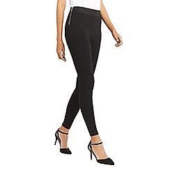 Oasis - Black zip side formal leggings