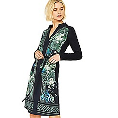 Oasis - Multi black greenhouse print shirt dress