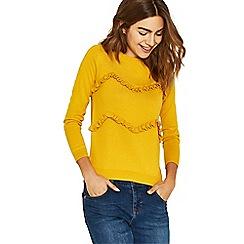 Oasis - Ochre double frill knit jumper