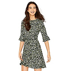 Oasis - Multi green ditsy tea dress