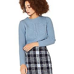 Oasis - Light blue cable knit jumper