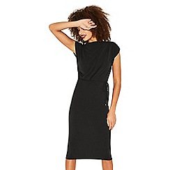 Oasis - Black drape column dress