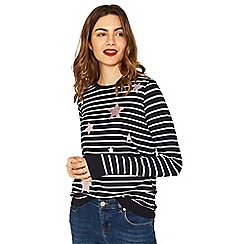 Oasis - Navy and white star stripe sweat