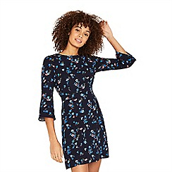 Oasis - Navy multi floral 'Ruby' print shift dress