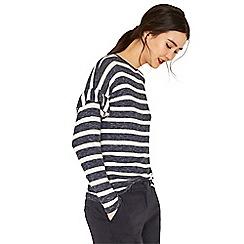 Oasis - Multi stripe frill drop sleeve cosy top