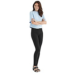 Oasis - Cara black side zip skinny