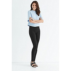 Oasis - Black cara side zip skinny