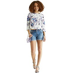 Oasis - Authentic wash kady denim shor