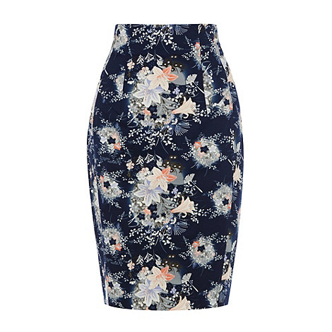 Oasis - Oasis mini fan print pencil skirt