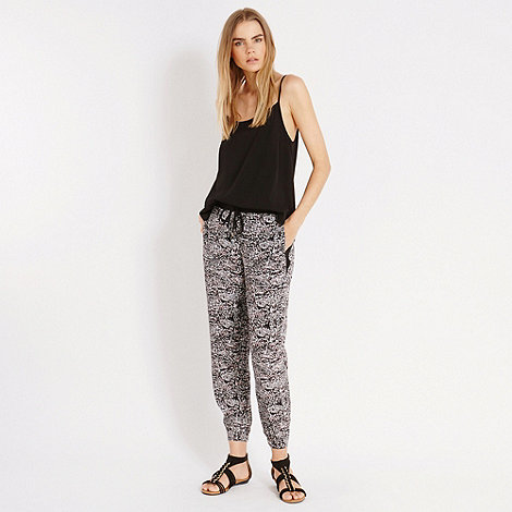 Oasis - Animal print patched trouser