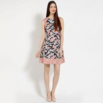 Oasis kimono shadow print dress