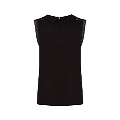 Oasis - Viscose collar organza trim top