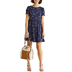 Oasis - Bird viscose skater dress