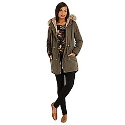 Oasis - Bella faux fur lined parka