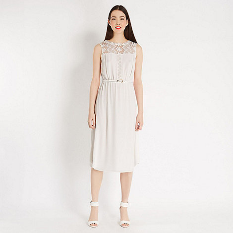 Oasis - Lace trim midi dress