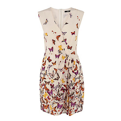 Oasis - Oasis border butterfly silk dress
