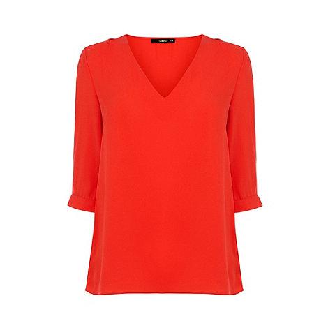 Oasis - Oasis tabby tuck sleeve top