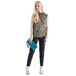 Oasis - Lace trim ditsy print top