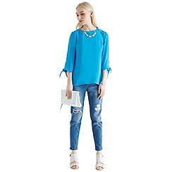 Oasis - Tie sleeve tilly top