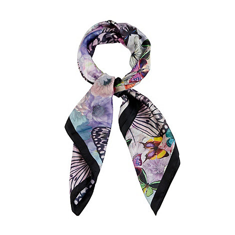 Oasis - Oasis butterfly floral silk scarf