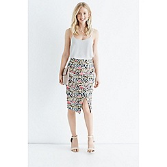 Oasis - Oriental jacquard pencil skirt
