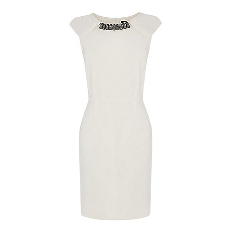 Oasis - Oasis embellished trim shift dress