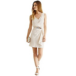 Oasis - V neck frill crepe dress