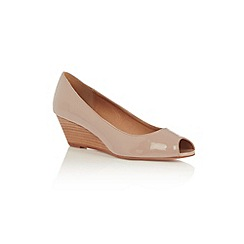 Oasis - Patent peeptoe mini wedge