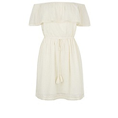 Warehouse - Textured gypsy dress
