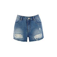 Warehouse - Turn up denim shorts