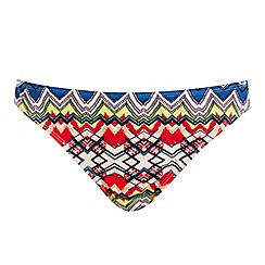 Warehouse - Tribal print bikini bottoms