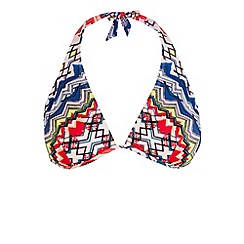 Warehouse - Tribal print bikini top