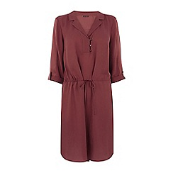 Warehouse - Tie waist shirt dress