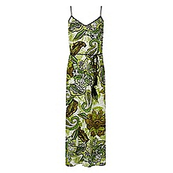 Warehouse - African floral midi dress