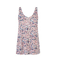Warehouse - Hawaiian floral print vest