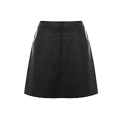 Warehouse - Faux leather pocket skirt