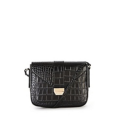 Warehouse - Croc effect satchel