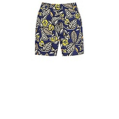 Warehouse - 70s leaf print shorts