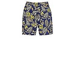 Warehouse - 70s leaf print shorts